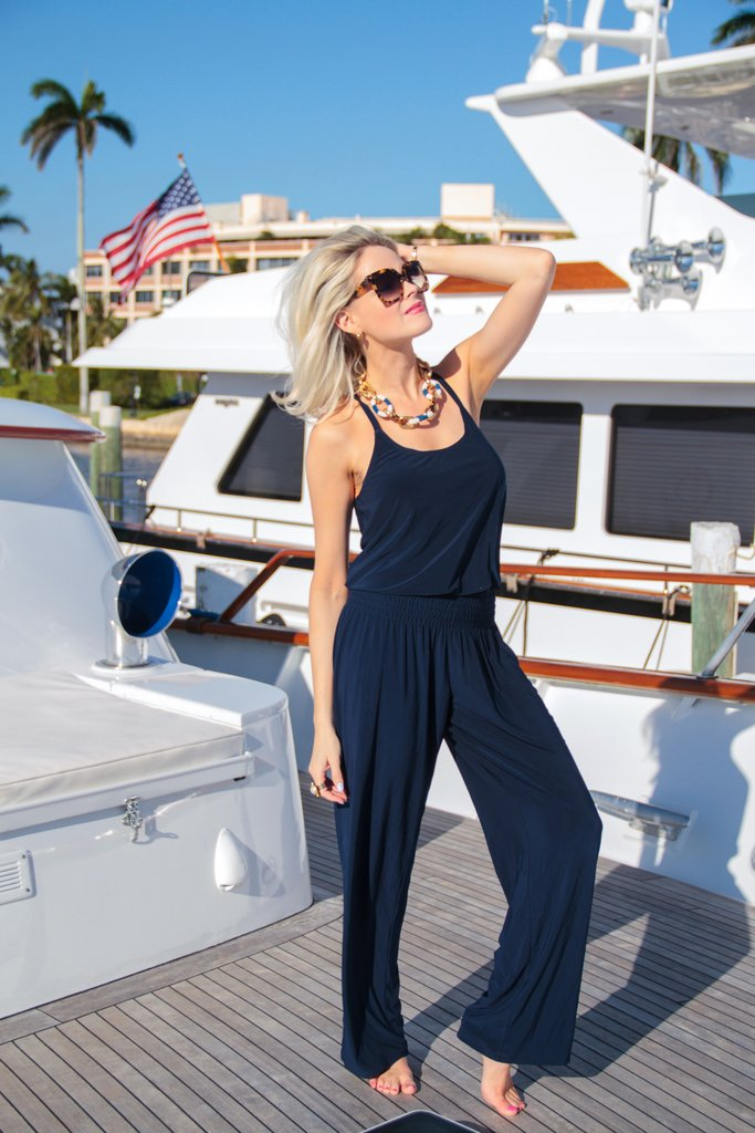 Julie Brown NYC Deena Summer Jumpsuit Trendy Summer Fashion Streetstyle Buy Online in Canada at Red Scarf Equestrian