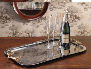 Rectangular Tray with Horse Bit Handles – Large