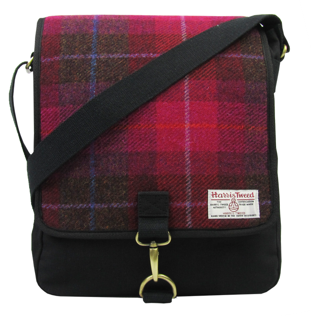 Tweed Crossbody Canvas Messenger Bag