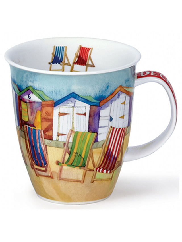 Buy Dunoon Mugs in Canada Nevis Deck Chairs Fine Bone China Handmade in England Tea Coffee Red Scarf Equestrian