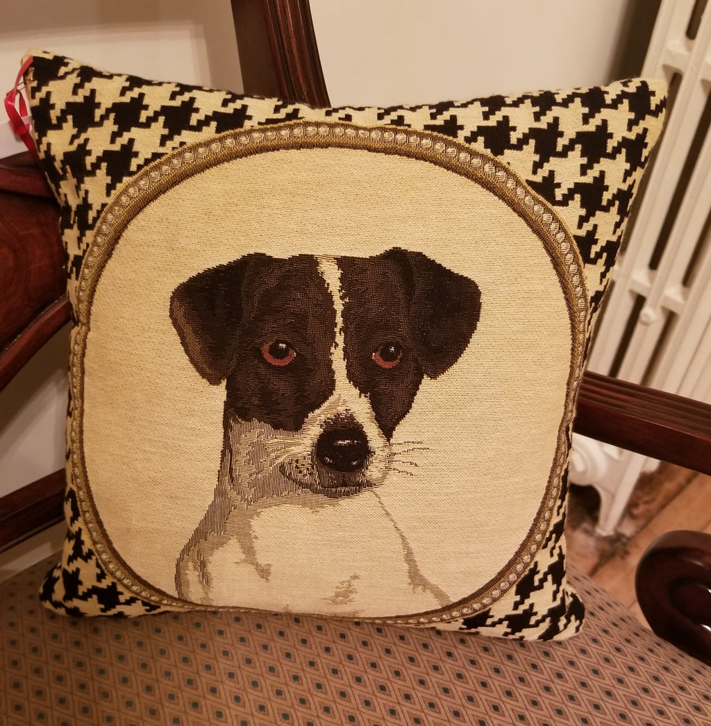 Houndstooth Dog Pillow