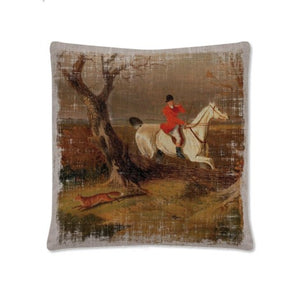 Downton Abbey Hunt Club Pillow – Fox Sighting