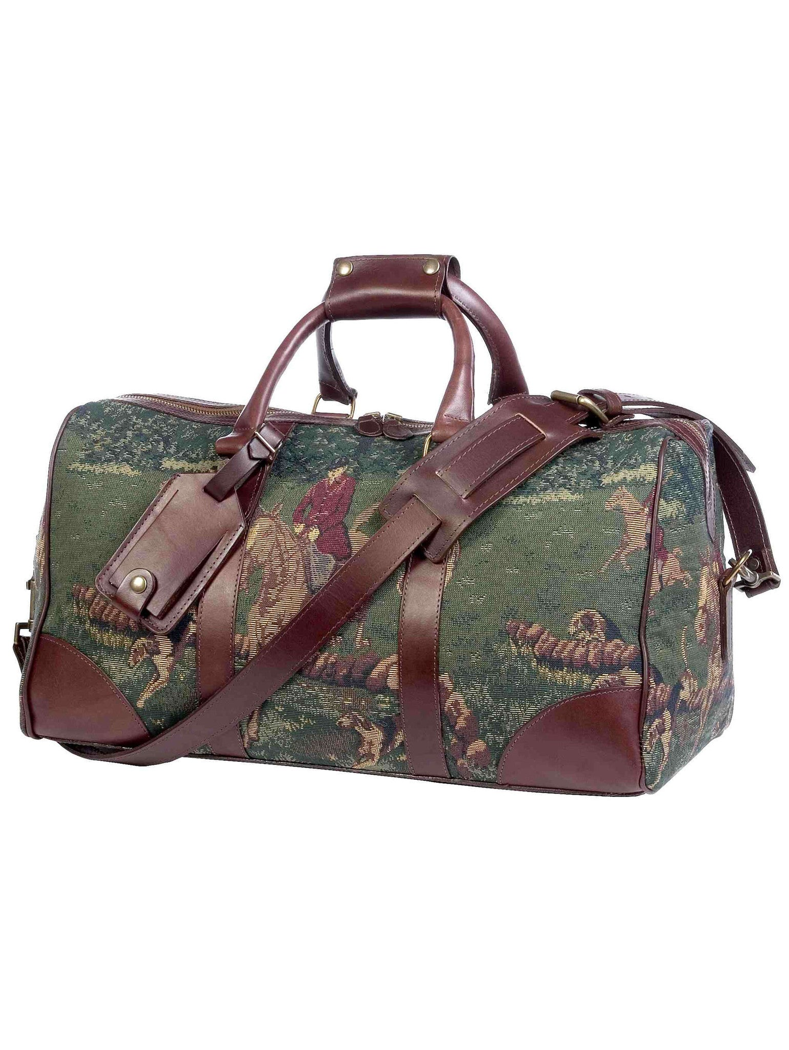 Classic Equestrian Hunter Tapestry Duffel / Carry-on