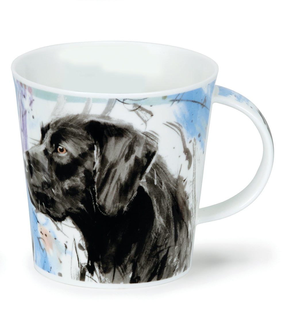 Dunoon Mugs - Cairngorm Dogs on Canvas: Black Lab