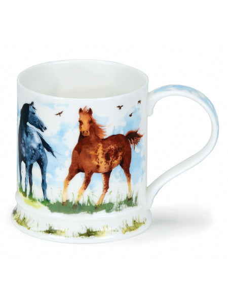 Dunoon Fine Bone China Mug:  Farmyard Horse