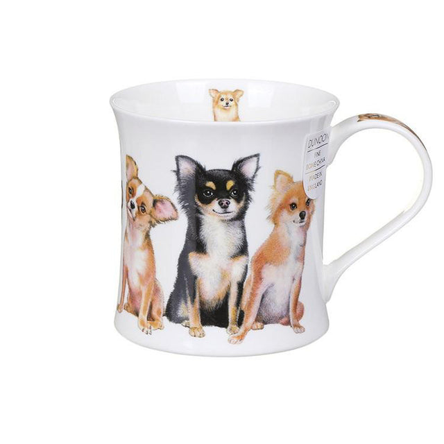 Buy Dunoon Mugs in Canada Wessex Designer Dogs Chihuahuas Fine Bone China Made in England Tea Coffee Red Scarf Equestrian