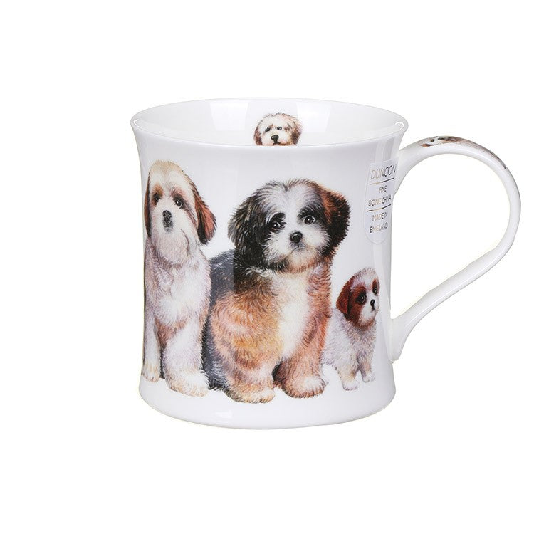 Buy Dunoon Mugs in Canada Wessex Designer Dogs Shih Tzus Fine Bone China Made in England Tea Coffee Red Scarf Equestrian