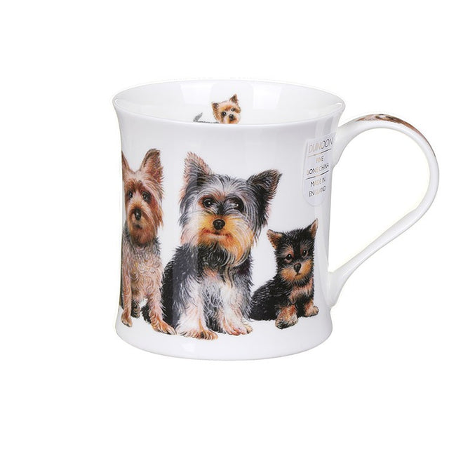 Buy Dunoon Mugs in Canada Wessex Designer Dogs Yorkshire Terriers Fine Bone China Made in England Tea Coffee Red Scar Equestrian
