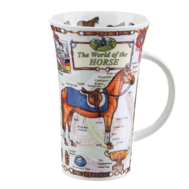 Buy Dunoon Mugs in Canada Glencoe The World of the Horse Fine Bone China Made in England Tea Coffee Red Scarf Equestrian