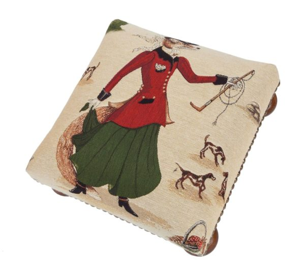 Fenella Fox Tapestry Foot Stool