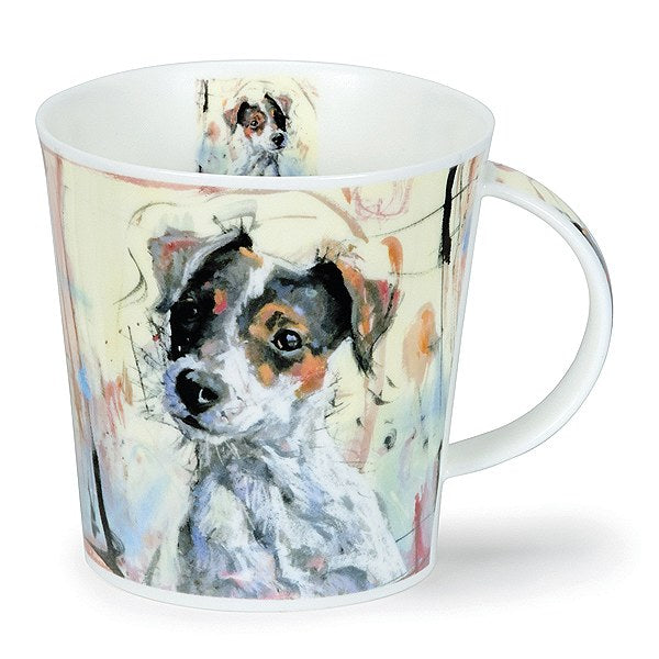 Dunoon Mugs - Cairngorm Dogs on Canvas: Jack Russel