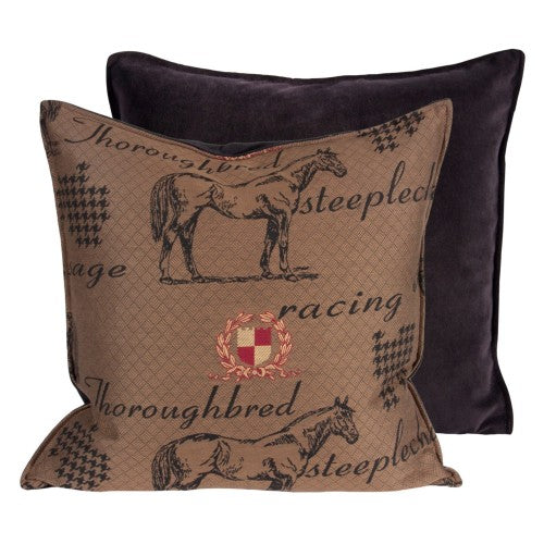 Thoroughbred Racing/Steeplechase Pillow – Square