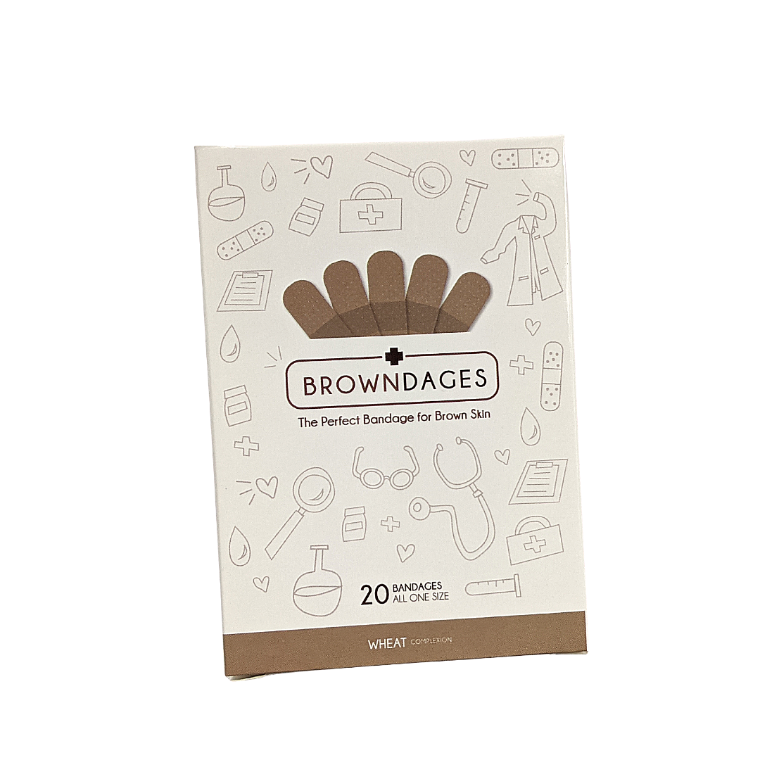 Browndages (Carton of 20 skin coloured bandages)
