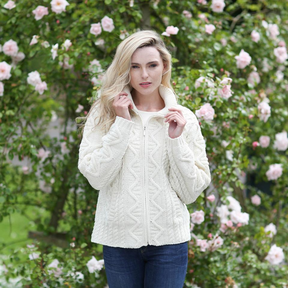 Women's: Merino Wool Zip Cardigan (X3096)