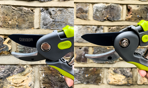 front and back view of anvil pruner