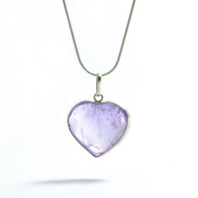 Load image into Gallery viewer, Hearts ~ Amethyst Heart Pendant - maka chaska