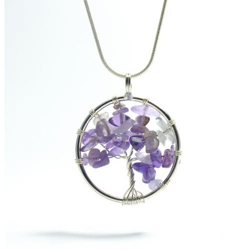 Tree of Life Pendant ~ Small Amethyst - maka chaska
