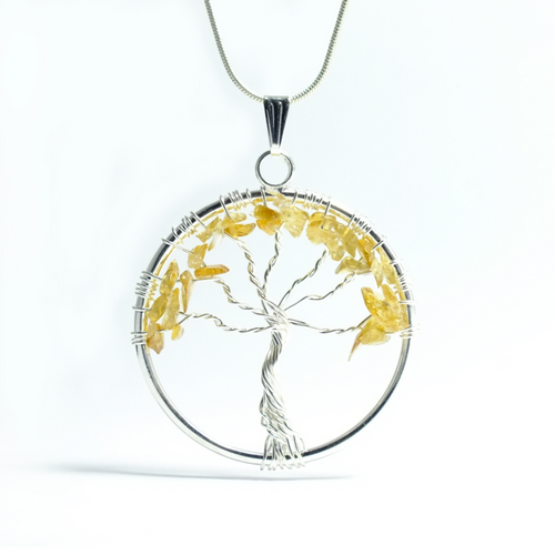 Tree of Life Pendant ~ Large Citrine - maka chaska