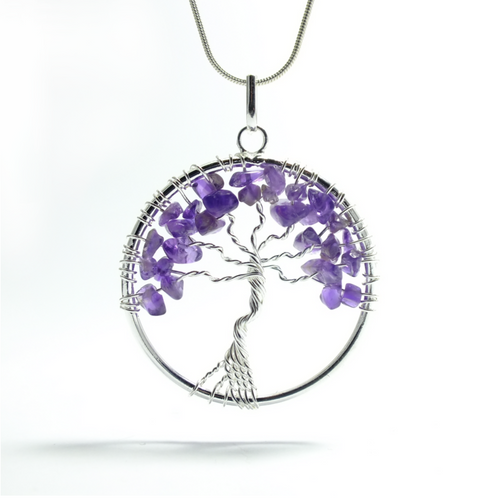 Tree of Life Pendant ~ Large Amethyst - maka chaska