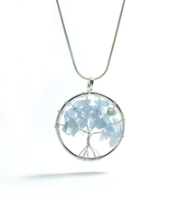 Load image into Gallery viewer, Tree of Life Pendant ~ Small Blue Lace Agate - maka chaska