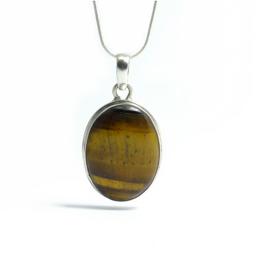 Oval Tigers Eye - maka chaska