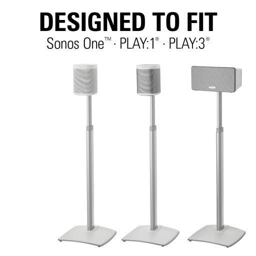 Sanus height adjustable speaker stands for Sonos fits Sonos One, Play1, Play3