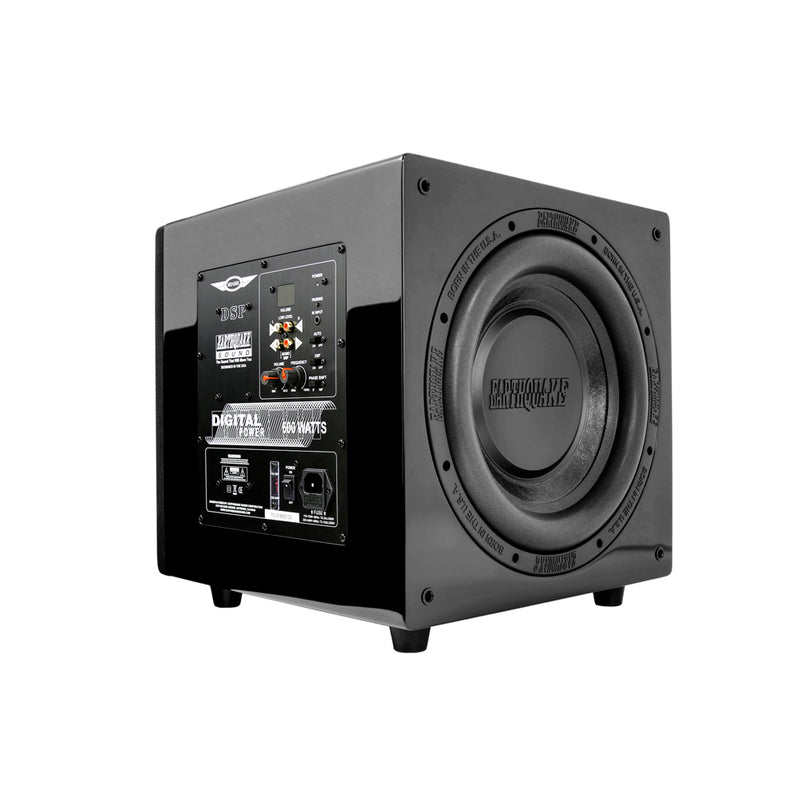 Earthquake DSP-P10 subwoofer angle driver and amp