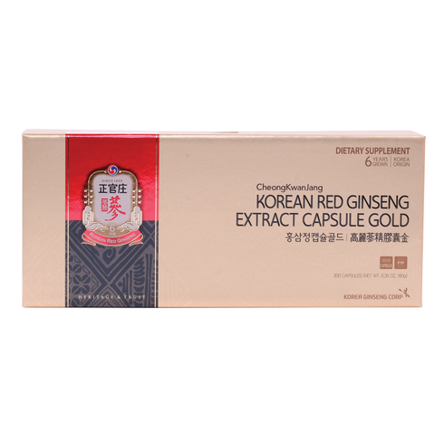 Korean Red Ginseng Extract Capsule Gold
