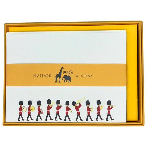 London Changing of the Guard Notecard Set - Note Card Set  Mustard and Gray Ltd Shropshire