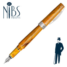 Load image into Gallery viewer, His Nibs Presents the Visconti Mirage Fountain Pen in Amber Yellow Orange