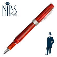 Load image into Gallery viewer, His Nibs Presents the Visconti Mirage Fountain Pen in Coral Red
