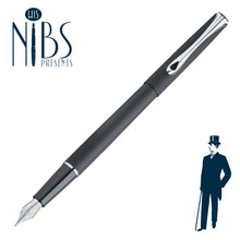 Load image into Gallery viewer, His Nibs Presents the Diplomat Traveller Fountain Pen in lapis Black