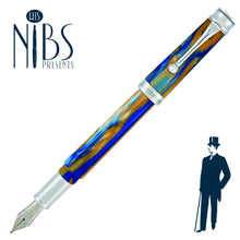 Load image into Gallery viewer, His Nibs Presents the Monteverde Essenza Fountain Pen in Sunny Skies Blue and Orange