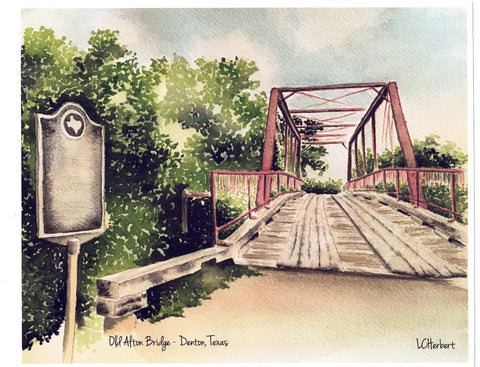 Old Alton Bridge Print