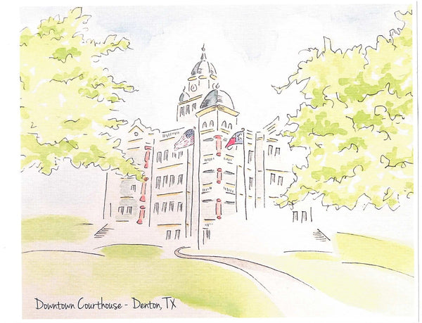 Denton Courthouse Print