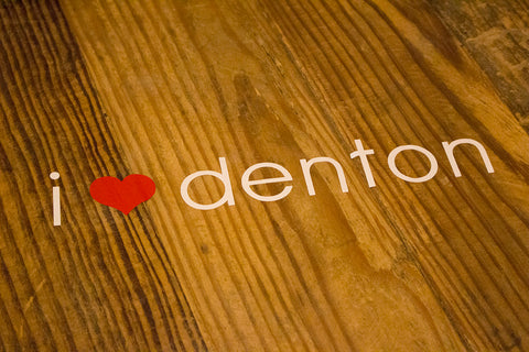 I Heart Denton Decal