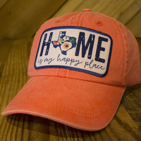 Texas Home Is My Happy Place Hat