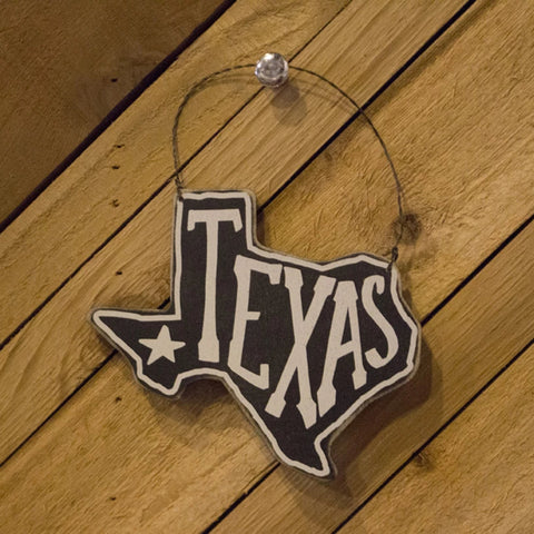 Texas Wood Ornament