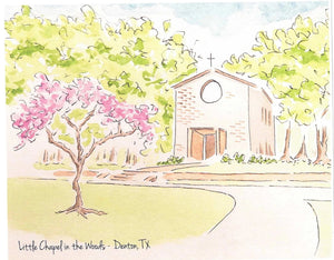 TWU Little Chapel in the Woods Print