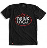 Drink Local Neon Sign T-Shirt