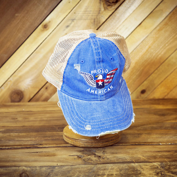 Proud American Denim Eagle Hat