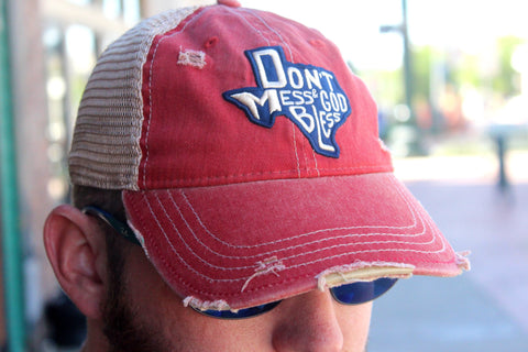 Don't Mess & God Bless Hat