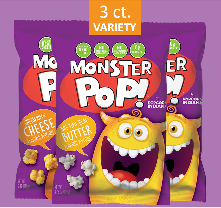 Variety Pack - 3 ct (2 Butter + 1 Cheese)
