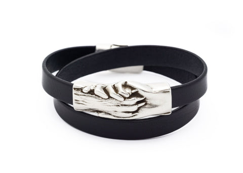 Flat Leather Double Wrap Bracelet - Hand and Paw Project™ Jewelry