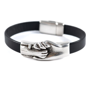 Cat's Paw Flat Leather Bracelet - Hand and Paw Project™ Jewelry