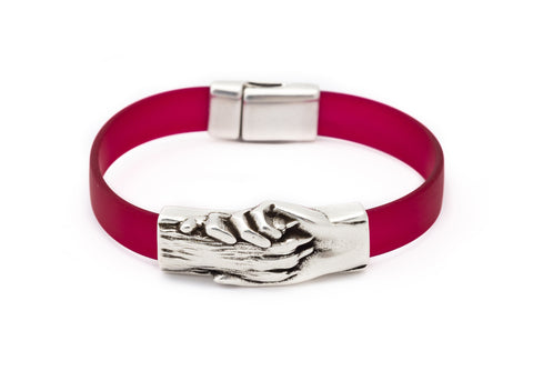 Dog's Paw Vegan Flat Rubber Bracelet - Hand and Paw Project™ Jewelry