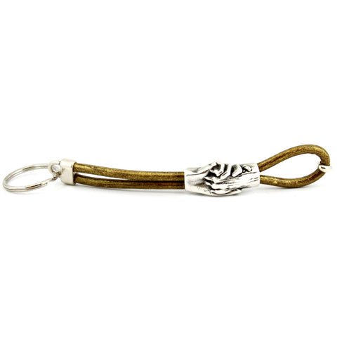 Dog's Paw Leather Keychains - Hand and Paw Project™  Jewelry