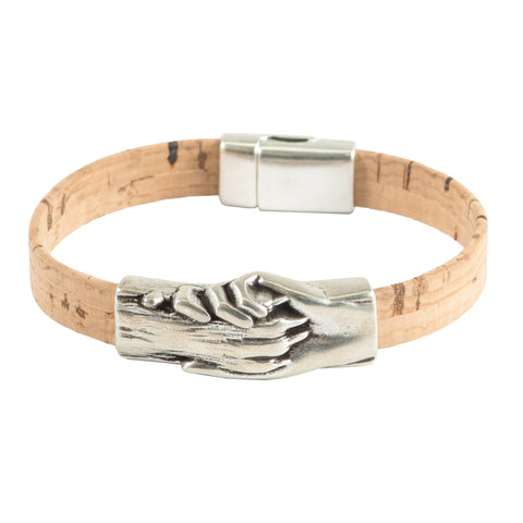 Dog's Paw Vegan-Friendly Flat Cork Bracelet - Hand and Paw Project™ Jewelry