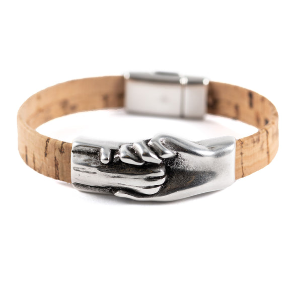 Cat's Paw Vegan-Friendly Flat Cork Bracelet - Hand and Paw Project™ Jewelry