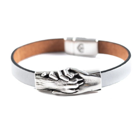 Dog's Paw Flat Leather Bracelet - Hand and Paw Project™ Jewelry